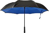 ALMARET Dvouvrstvý deštník, rozměry 105 x 85 cm, černo modrá - reklamní deštníky