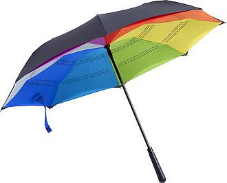 TERAM Vícebarevný dvouvrstvý deštník - parametry 107 x 77 cm