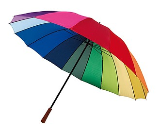 Šestnácti panelový barevný golfový deštník, pr. 131cm