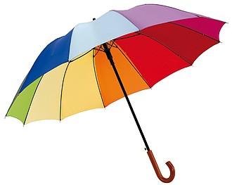 Dvanácti panelový barevný holový deštník, pr. 120cm