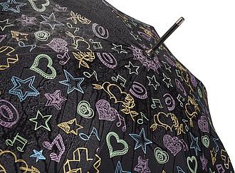 RANGEL Automatický deštník s obrázky měnícími barvu v dešti, pr. 104cm