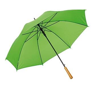 Automatický holový deštník s rukojetí v dřevěném vzhledu, pr. 103cm, světle zelený