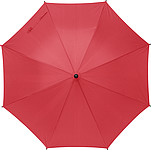 TERUEL Klasický automatický deštník, pr. 89cm, materiál RPET, červený - reklamní deštníky