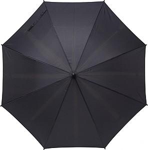 Klasický automatický deštník, pr. 104cm, rovná rukojeť, vyrobeno z RPET, černý
