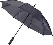 PITORESKO Klasický automatický deštník s rovnou rukojetí, pr. 105cm, černý