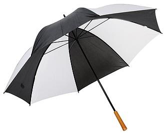 Golfový deštník, pr. 129cm, bílo černý