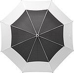 Velký klasický deštní, pr. 122cm, černo bílý