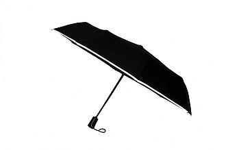 SCHWARZWOLF CRUX - skládací deštník s reflexním páskem a karabinou - pláštěnky
