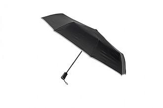 SCHWARZWOLF CRUX - skládací deštník s reflexním páskem a karabinou
