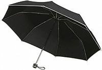 CÉZANNE Skládací deštník s obalem, černá - reklamní deštníky