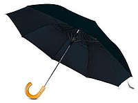 deštník skládací černý, dřevěné držátko. 49cm x pr.104cm