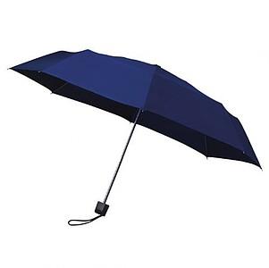 MUNCH Skládací deštník s černou konstrukcí, tmavě modrá - reklamní deštníky