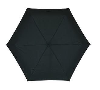 skládací deštník v pouzdře, černá. Průměr 85 cm.