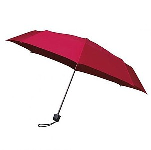 MUNCH Skládací deštník s černou konstrukcí, červená - reklamní deštníky