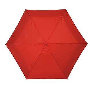 skládací deštník v pouzdře, červený, průměr 85 cm
