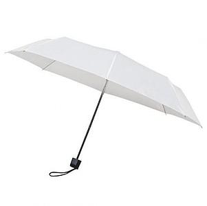 MUNCH Skládací deštník s černou konstrukcí, bílá - reklamní deštníky
