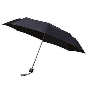 MUNCH Skládací deštník s černou konstrukcí, černá - reklamní deštníky