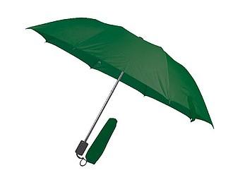 Deštník, ruční otvírání, tmavě zelený