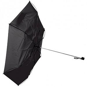 Skládací deštník, proti větru, černá