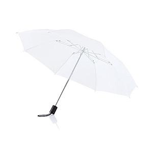 Skládací manuální deštník s kovovou konstrukcí, bílá