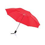 Skládací manuální deštník s kovovou konstrukcí, červená - reklamní deštníky