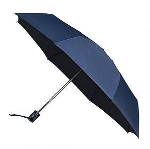 UMBERTO Skládací deštník se systémem open-close, tmavě modrá - reklamní deštníky