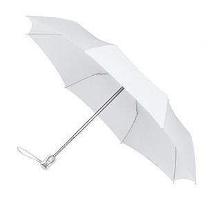 UMBERTO Skládací deštník se systémem open-close, bílá - reklamní deštníky
