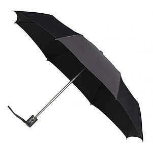 UMBERTO Skládací deštník se systémem open-close, černá - reklamní deštníky