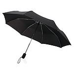 Automatický deštník Swiss Peak s chromovaným hliníkovým tělem, černý - reklamní deštníky