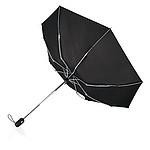 Automatický deštník Swiss Peak s chromovaným hliníkovým tělem, černý