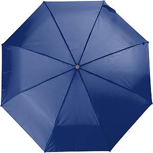 Teleskopický dámský deštník v obalu, rozměry 84 x 55 cm, modrý - reklamní deštníky