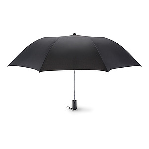 Skládací deštník, hliníková konstrukce, černý