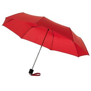 Klasický skládací deštník, červená