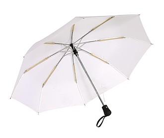 Skládací automatický deštník, bílá - reklamní deštníky