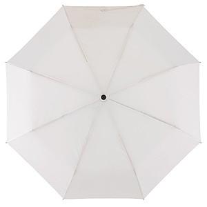 Skládací automatický deštník, bílá
