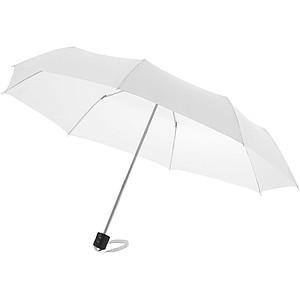 Klasický skládací deštník, bílá