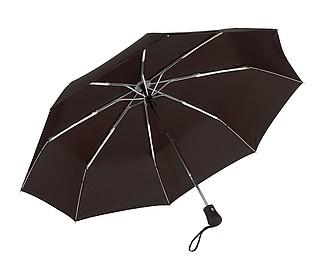 Skládací automatický deštník, černá
