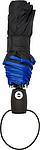 KALAM Skládací Automatický deštník (190T), větruvzdorný, rozměry 90 x 55 cm, modrý - reklamní deštníky