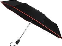KALAM Skládací Automatický deštník (190T), větruvzdorný, rozměry 90 x 55 cm, červený - reklamní deštníky