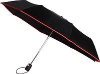 KALAM Skládací Automatický deštník (190T), větruvzdorný, rozměry 90 x 55 cm, červený