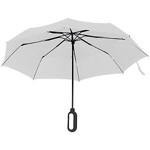 Automatický skládací deštník, pr. 98cm, s karabinou v rukojeti, bílý