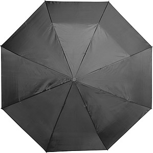 Skládací Automatický deštník z polyesteru, rozměry 84 x 54 cm, černý
