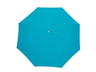 Skládací deštník s karabinou světle modrá
