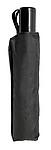 Skládací automatický OC deštník, rozměry 95 x 30 cm, černý - reklamní deštníky