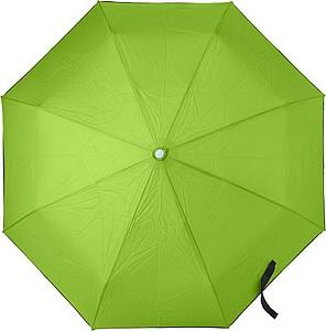Skládací automatický OC deštník, rozměry 95 x 30 cm, světle zelený