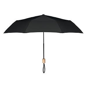 Manuální skládací deštník, 3-dílná konstrukce, pr.99cm, černý