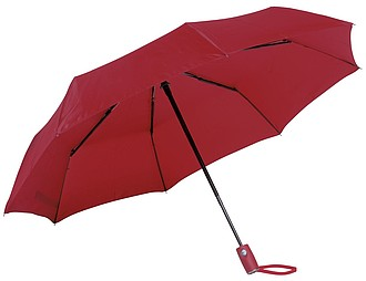 BURIAN Automatický open/close skládací deštník, pr. 101cm, červená - reklamní deštníky