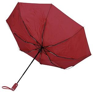 BURIAN Automatický open/close skládací deštník, pr. 101cm, červená