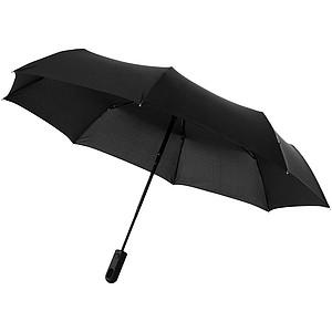 Cestovní třísekční deštník Marksman, černá