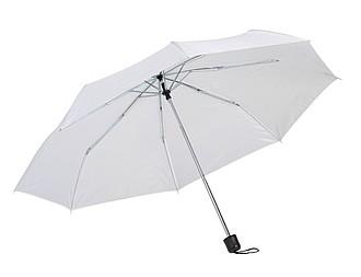 Skládací kapesní deštník, bílý